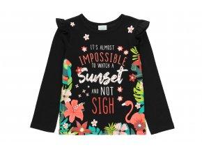 Dívčí tričko dlouhý rukáv černé Tropic412007890 a