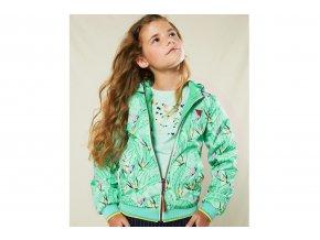 Dívčí bunda zelená lehkáN102 5200 317 4