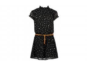 Dívčí černé šaty s puntíkamaN102 5811 017