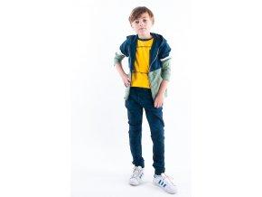 Chlapecká mikina na zip kapuce modrá zelená kapsáče kalhoty tmavě modré maskáče kluk cool BNOSY Y102 6310 381 2