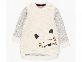Dívčí šatičky teplé kočička bílé smetanové Boboli