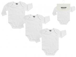 Kojenecké body čistě bílé obálkové 3v1 bavlna OEKO TEX Boley 6152003 0 1000 2
