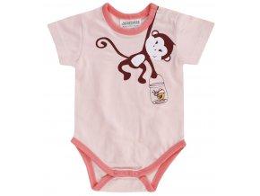 Krátké body růžové holčička opička 1511070 0 2100