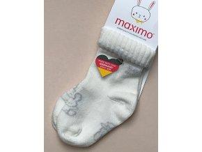 Kojenecké ponožky bílé zvířátko králíček široký lem 95236315200 3809