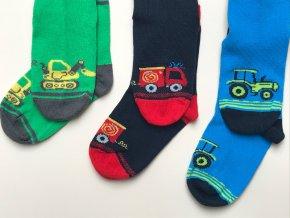 Dětské ponožky barevné auto bagr hasiči traktor obrázek kluk 3v1 03836329700 1548 b