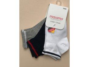 Dětské ponožky modré šedé bílé s proužkem 3v1 kluk holka unisex 38363301 188