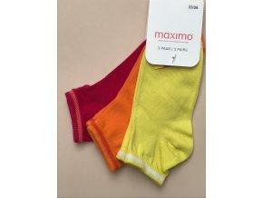 Dětské ponožky holka barevné růžové oranžové žluté 3v1 03836330100 7947