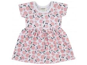 Dívčí šatičky růžové s jablíčky pro holčičku Jacky letní šaty holka 3911600 0 7821 copy