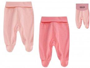 Kojenecké polodupačky růžové pro holčičku losos Boley 2v1 6371105 0 9940
