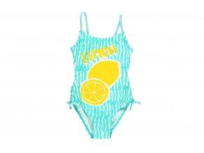 Dívčí plavky v celku tyrkysové s citrony8221811100 a
