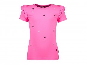 Dívčí růžové tričko s flitryY103 5454 212