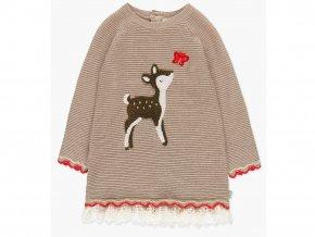 Pletené dívčí šaty svetřík Koloušek béžové Boboli
