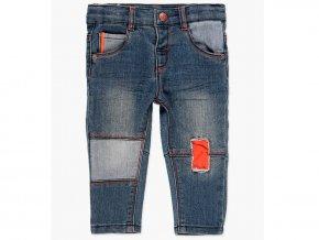 Modré strečové džíny kluk jean moderní záplaty Boboli 348050BLUE a