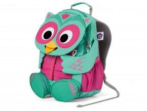 Zelený dětský batůžek do školky Sovička tyrkysový růžový s kapsami FAL 001 006 Affenzahn A