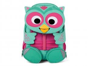Zelený dětský batůžek do školky Sovička tyrkysový růžový AFZ FAL 001 006 Affenzahn