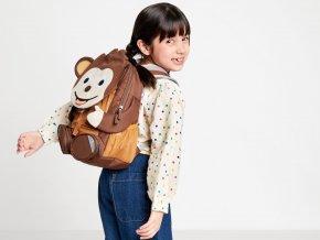 Dětský hnědý batoh Opička do školky AFZ FAL 001 035 affenzahn