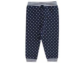 Kojenecké tepláčky pro holčičku modré s puntíky tmavé Jacky