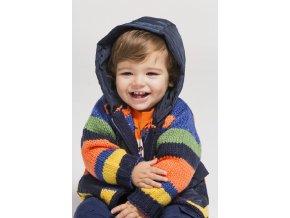 Pletený svetr pruhovaný barevný kluk odepínací kapuce podšívka kluk Boboli veselý boboli Loobook AW19 (6)