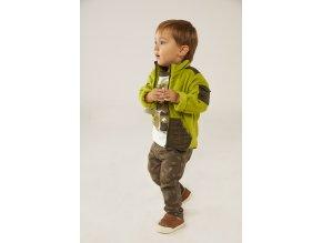 Boboli set pro chlapečka zelený maskot 3301LB fleecová bunda tričko raglan kalhoty khaki