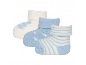Novorozenecké ponožky froté chlapeček mimi modré krémově bílé zajíček hvězdičky pruhované Ewers certif 205000 0002 a
