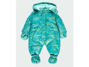 Kojenecká zimní kombinéza se zvířátky zelená zip rukavičky botičky Boboli 1230959616 a