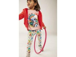 Růžové dívčí tričko s dlouhýn rukávem duha Boboli 2130283681 model