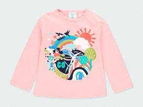 Růžové dívčí tričko s dlouhýn rukávem