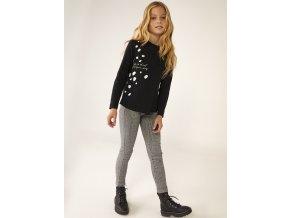Dívčí pletené kalhoty černobílé Boboli holka 443113890 model