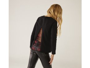 Tmavé Dívčí tričko s dlouhým rukávem otevřená záda Rock'n'Roll Boboli holka 433022890 model
