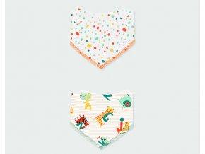 kojenecké bryndáčky zvířátka puntíky barevné veselé froté 2ks boboli mimi