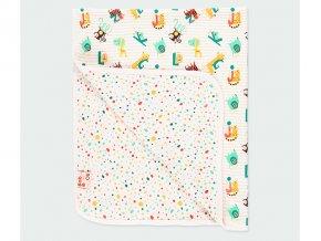 Kojenecká dečka oboustranná zavinovačka barevná veselá deka mimi Boboli