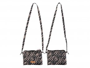 Dívčí taštička Zebra kabelka pro holku na mobil černobílá kaštan