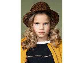 Dívčí klobouk kovboj cowboy hnědý leopard NONO N107 5904 421 model