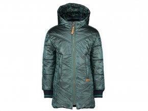 Dívčí zimní bunda dlouhá zelená metalíza olivově zelená NONO holka N107 5204 320