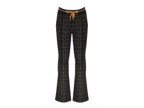 Dívčí kostkované kalhoty do zvonu černé medové měděné NONO podzim zima 2021 N108 5609 014