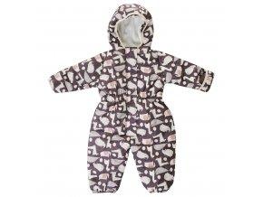 Dětská zimní kombinéza se zvířátky tmavá dino slon Jacky 3821620 2578 1