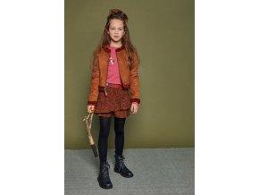 Dívčí šortky se sukní a volánkem Skořice šortková sukně pro holku NoNo N108 5604 422 model