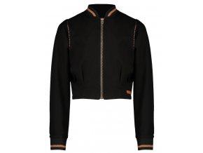 Dívčí mikinový kabátek na zip černý blezr do pasu NoNo holka N108 5313 014 a