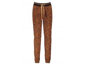 Dívčí kalhoty skořice gepard módní tepláky na gumu se zavazováním NoNo holka N108 5603 422