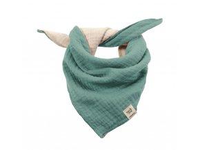Dětský šátek tyrkysový Organic bio bavlna mimi Maximo 13400-093200 4310