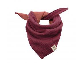 Dětský šátek vínový bordó růžový Organic bio bavlna mimi Maximo 13400-093200 5854