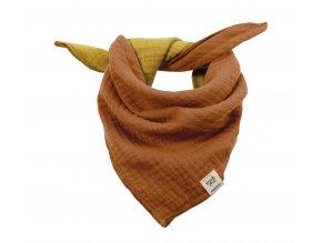 Dětský šátek okrový hořčičně žlutý Organic bio bavlna mimi Maximo 13400-093200 6956