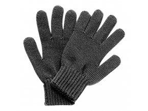 Dětské prstové rukavice tmavé šedé antracit vlna Maximo unisex 79177-055097/18