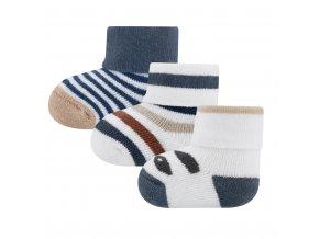 Novorozenecké ponožky s pandou froté kojenecké ponožky teplé 3ks Ewers chlapeček 205243 1 a