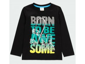 Chlapecké tričko s dlouhým rukávem černé tričko s neonovým nápisem plyšový nápis hladící Boboli kluk 513111890 a