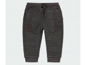 Boboli Chlapecké teplákové kalhoty tmavé šedé fantazie kombi materiál teplé kalhoty pro kluka 3430888116 a