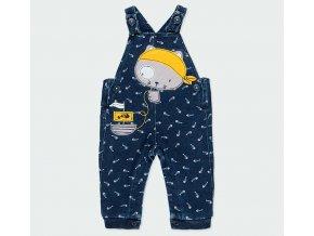 Kojenecké lacláče tmavě modré Pirát kalhoty s laclem na hraní Boboli kluk 1331649617 a