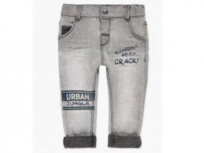 Klučičí šedé kalhoty jean urban na gumu Boboli kluk