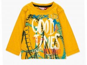 Klučičí tričko dlouhý rukáv žluté kari hořčičně žluté barevné Boboli