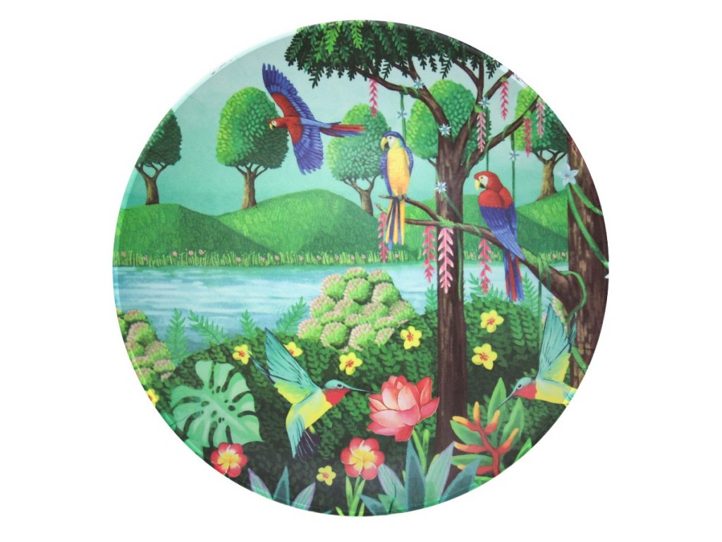 Bambusový talíř - Bird Paradise